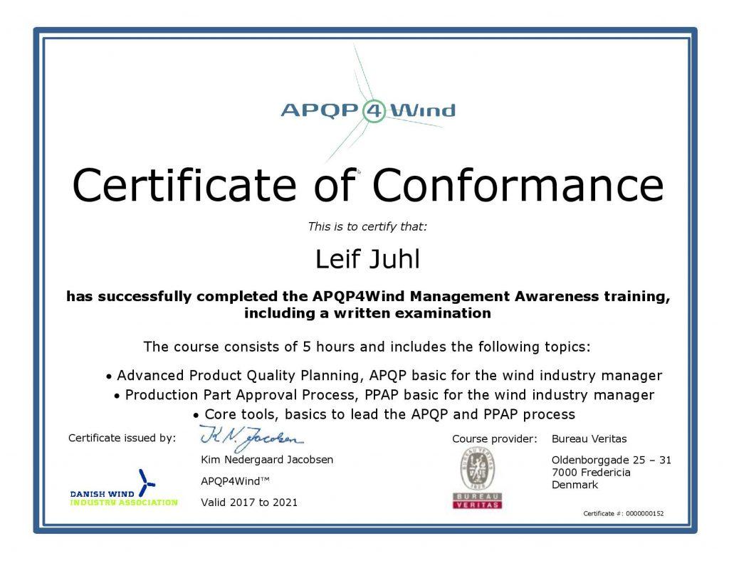 APQP4Wind Leif Juhl