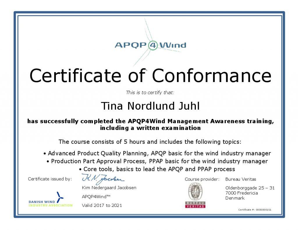 APQP4Wind_Tina Nordlund Juhl